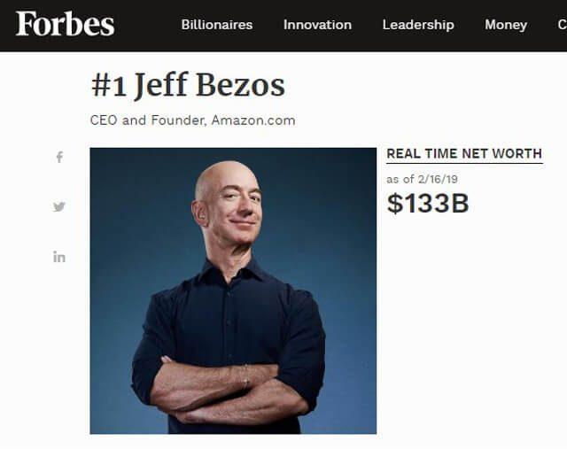 Total Kekayaan Jeff Bezos Saat Ini