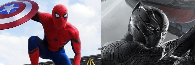 Spiderman dan Black Panther