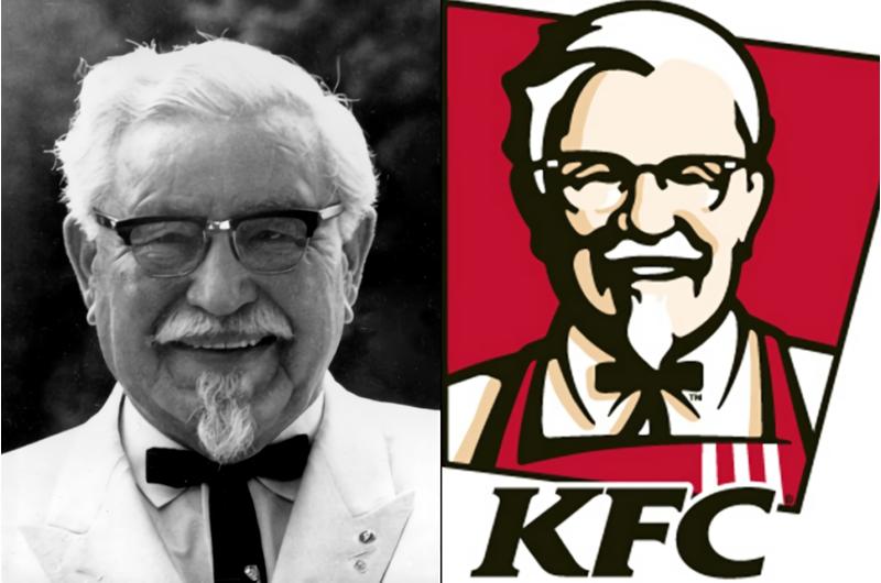 Wajah Kolonel Sanders sebagai Logo KFC
