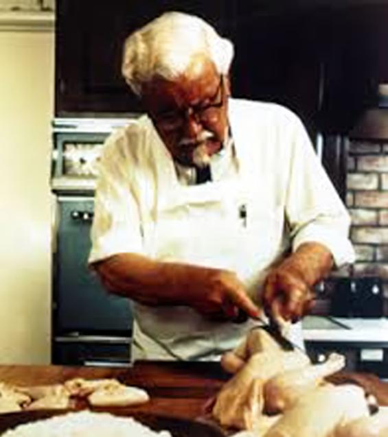 Kolonel Sanders di dapur KFC
