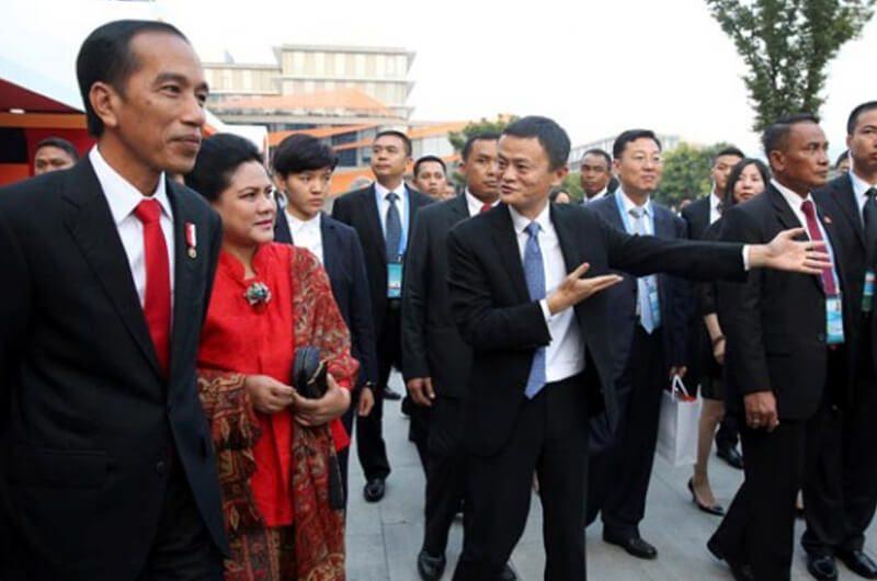 Jack Ma bersama Presiden Joko Widodo berkunjung ke Hangzhou, China