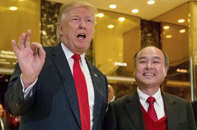 Masayoshi Son dan Presiden Amerika Serikat, Donald Trump