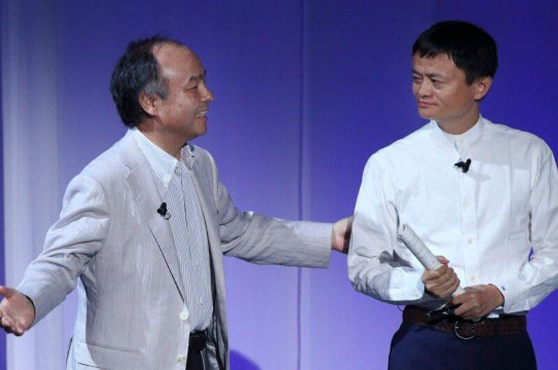 Masayoshi Son bersama Jack Ma