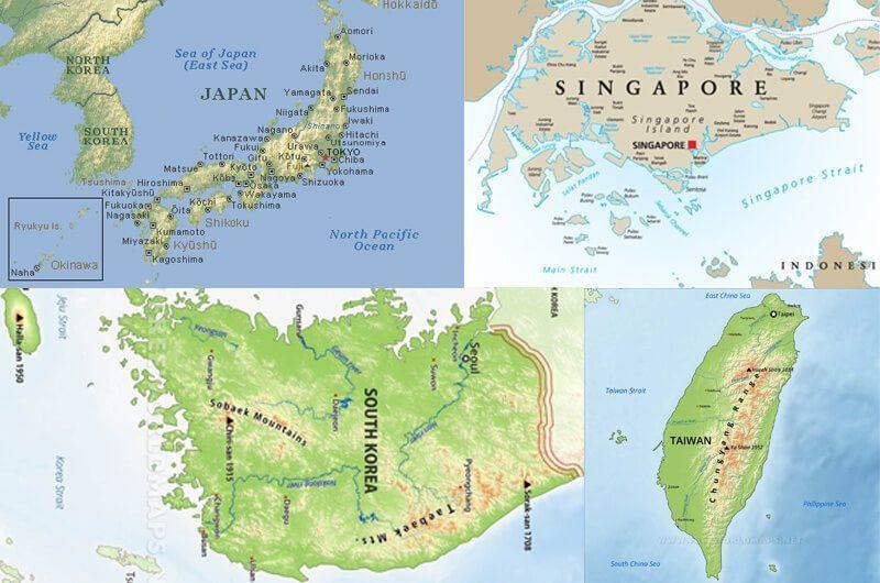 Macan Asia; Singapura, Jepang, Korea Selatan dan Taiwan