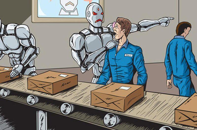 Ilustrasi Revolusi Industri 4.0 Menggantikan Peran Manusia