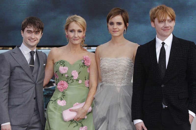 J.K. Rowling dan para pemain Harry Potter