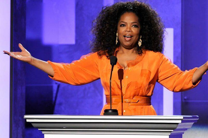 Oprah Winfrey di Panggung