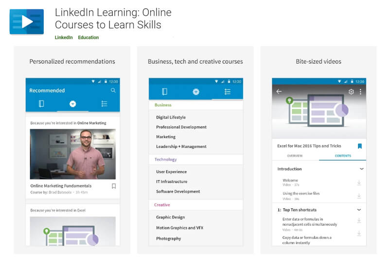 Aplikasi Android LinkedIn Learning
