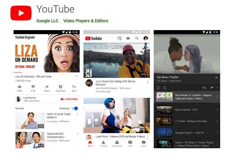 Aplikasi Android Youtube