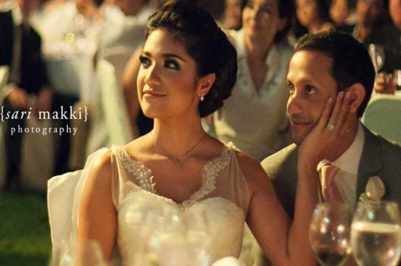 Nadiem Makarim dan istri saat pernikahan