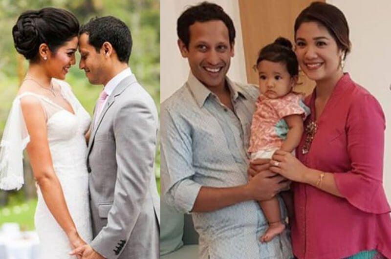 Nadiem Makarim bersama istri dan anak