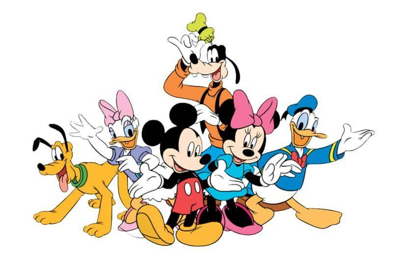 Donald Duck, Minnie Mouse, Goofy, dan Pluto