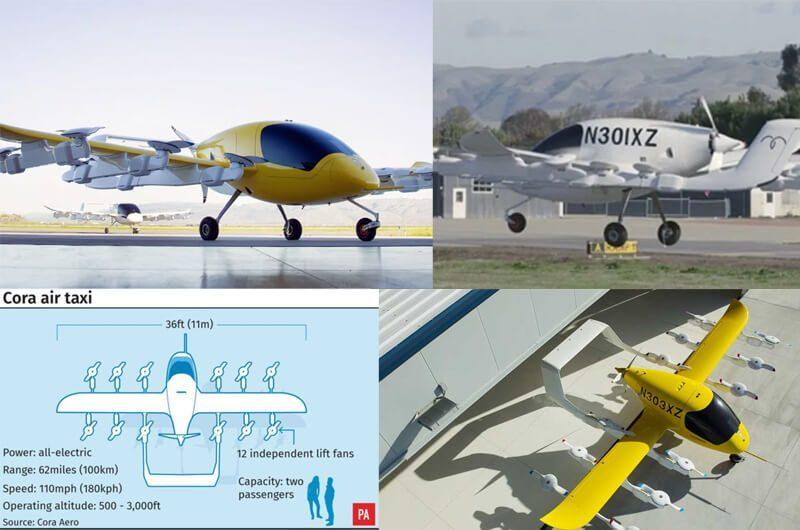 Perusahaan taksi terbang Kitty Hawk dengan Cora Air Taxinya