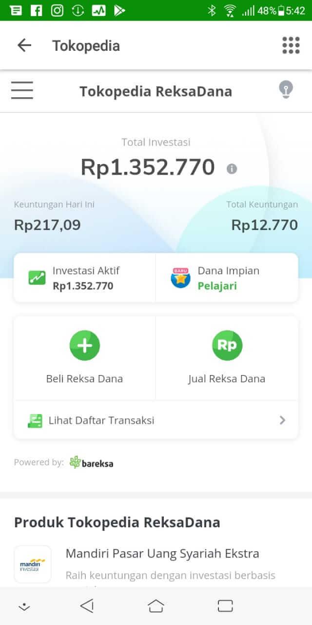 Investasi Reksadana di Tokopedia - Day 133 - 17 November 2019