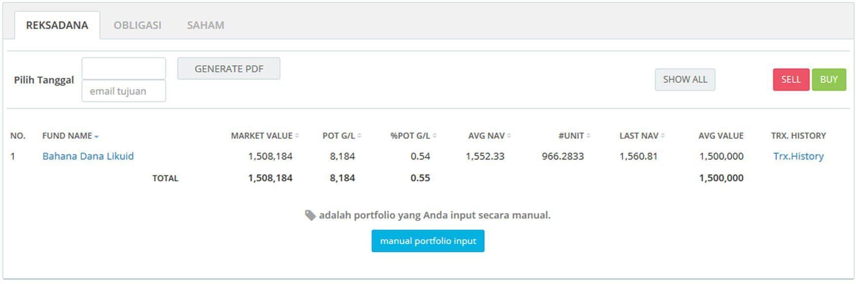 Screenshot Perkembangan Investasi Saham - Day 39, Selasa, 18 Februari 2020 BDL