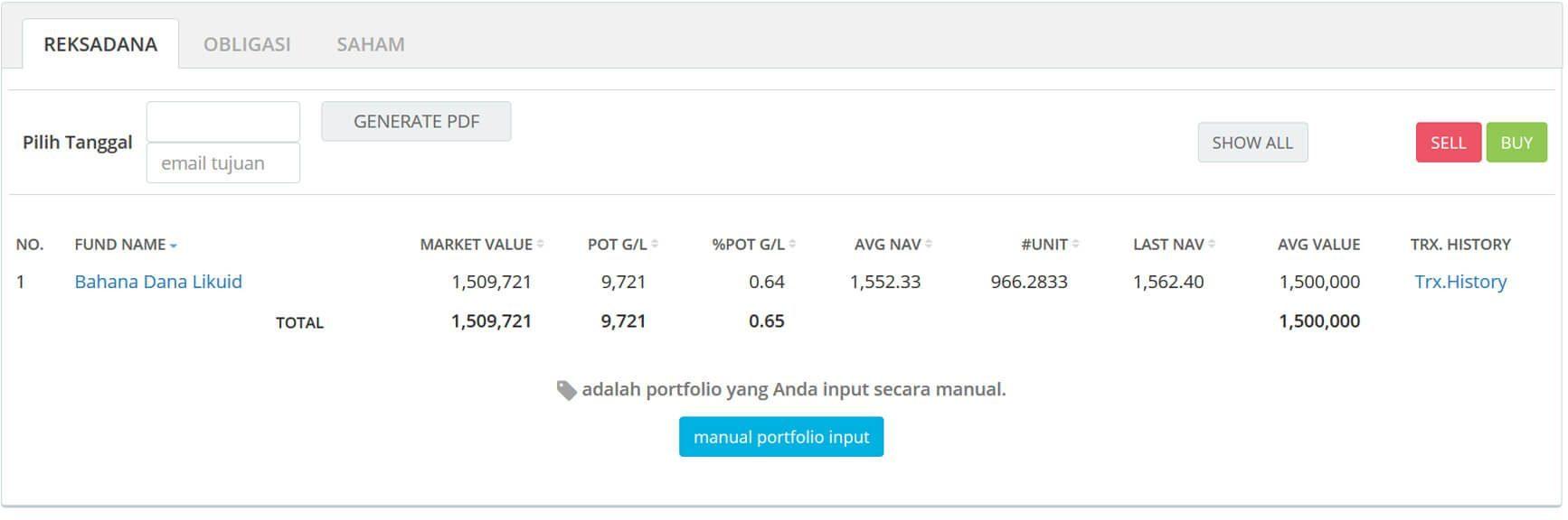 Screenshot Perkembangan Investasi Saham - Day 44, Selasa, 25 Februari 2020 BDL