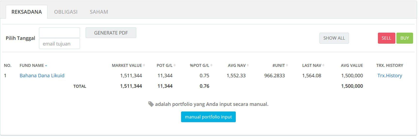 Screenshot Perkembangan Investasi Saham - Day 48, Senin, 2 Maret 2020 BDL