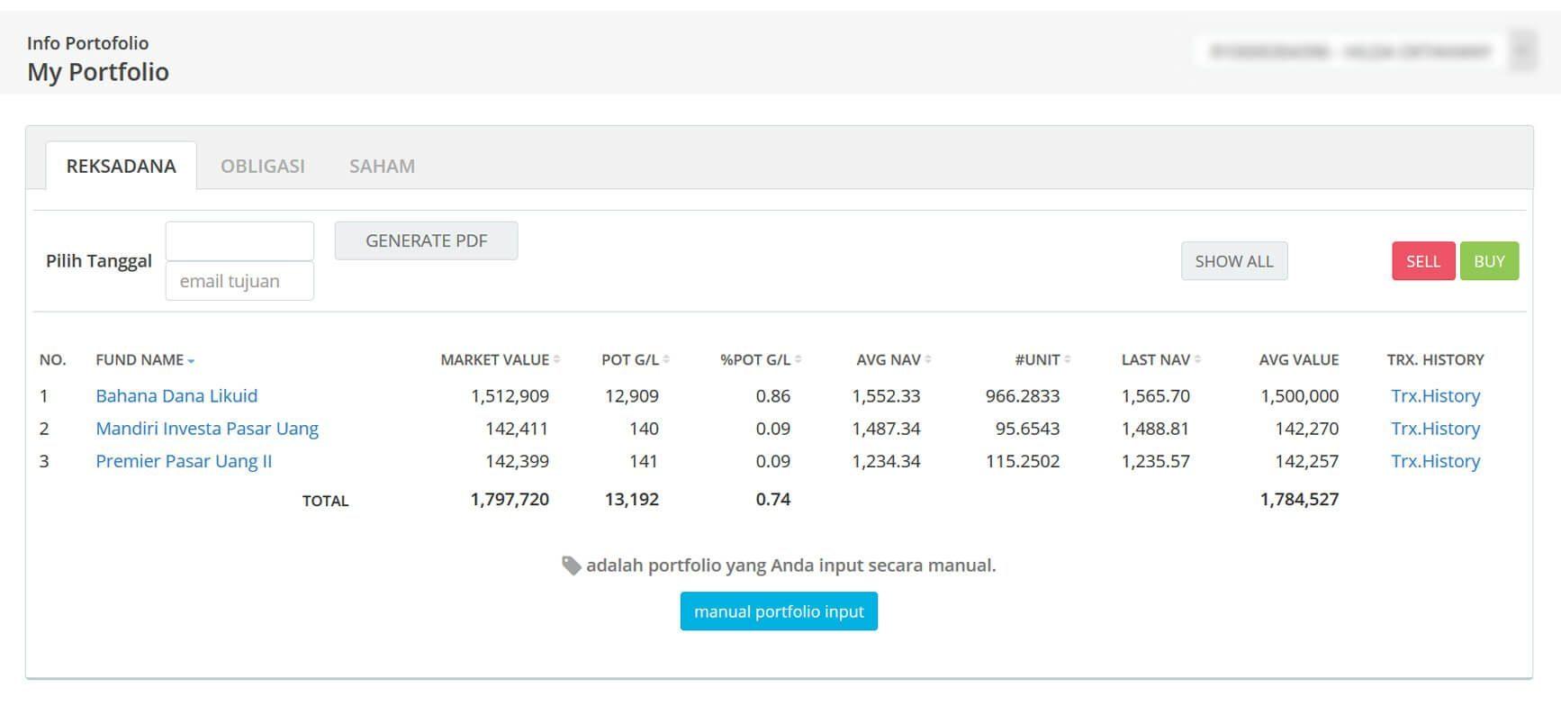 Screenshot Perkembangan Investasi Saham - Day 53, Senin, 9 Maret 2020 BDL & PPO