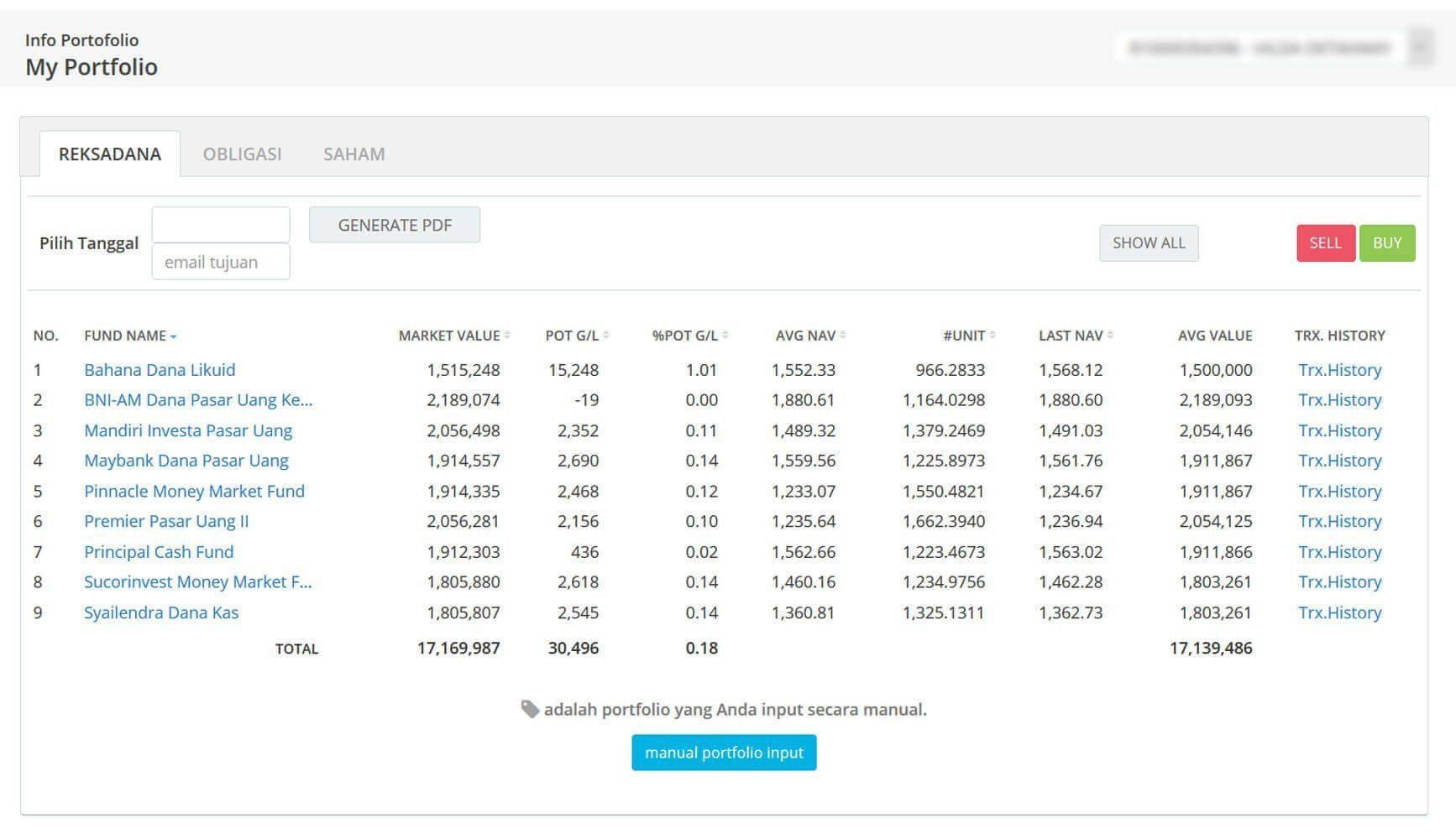 Screenshot Perkembangan Investasi Saham - Day 63, Senin, 23 Maret 2020 BDL & PPO