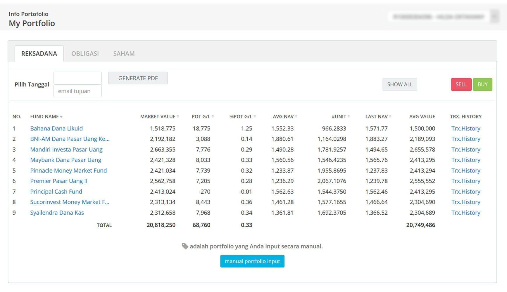 Screenshot Perkembangan Investasi Saham - Day 72, Senin, 6 April 2020 BDL & PPO