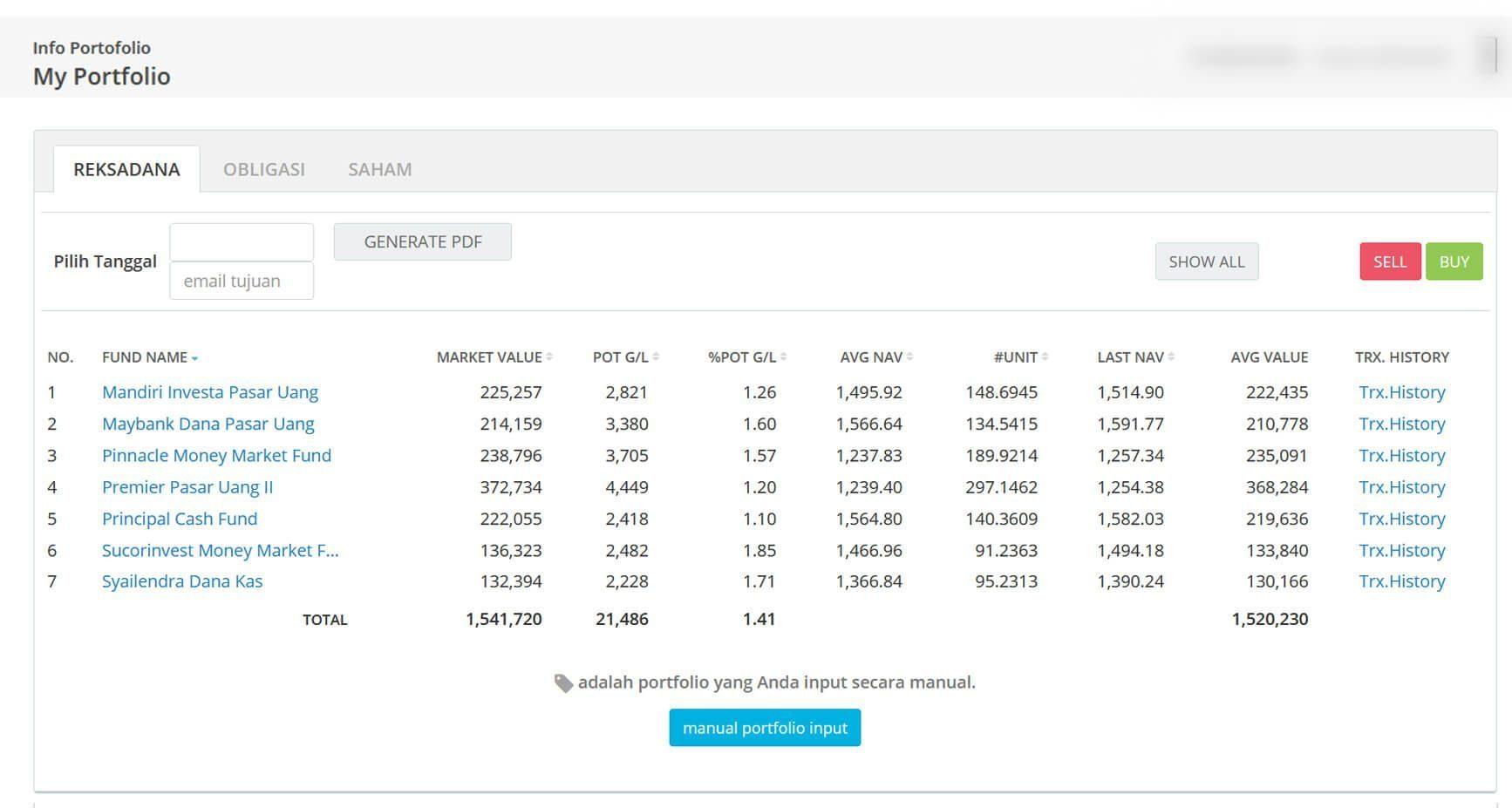 Screenshot Perkembangan Investasi Saham - Day 144, Rabu, 22 Juli 2020 BDL & PPO