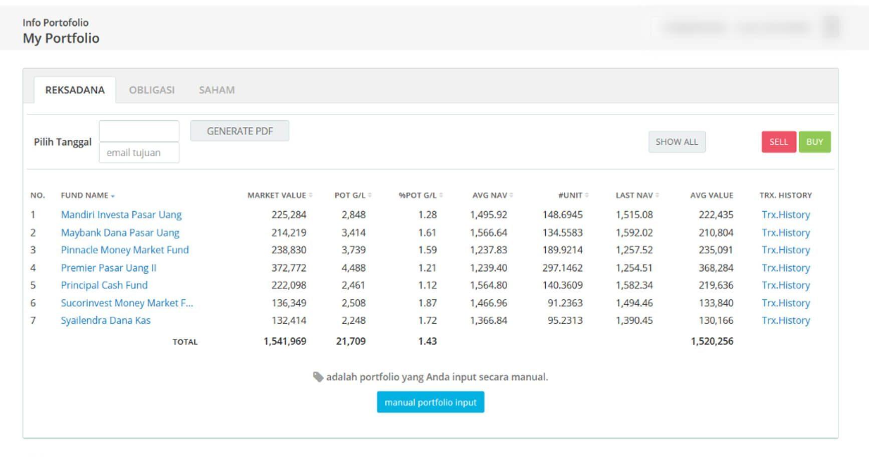 Screenshot Perkembangan Investasi Saham - Day 145, Kamis, 23 Juli 2020 BDL & PPO