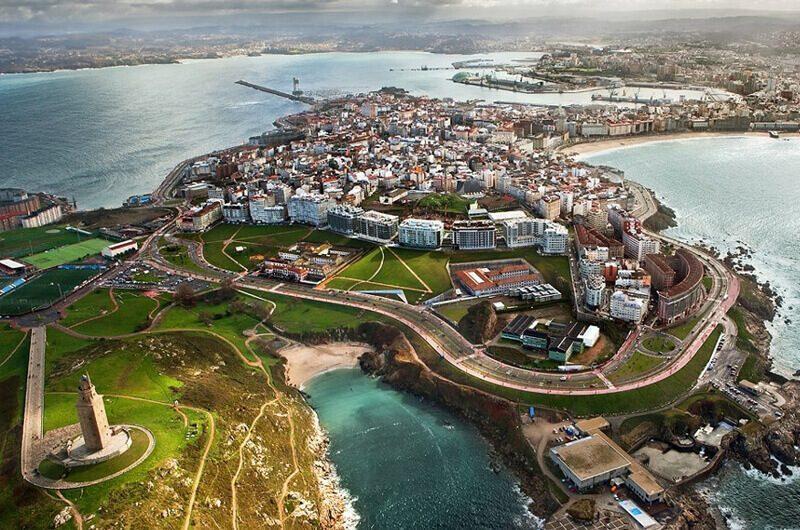 Kota La Coruna, Spanyol